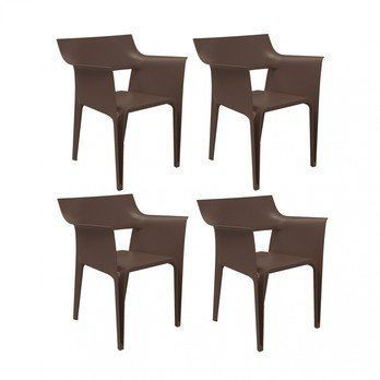 Vondom - Pedrera Armchair 4 Piece Set - bronze/H x W: 83 x 58cm/for indoor and outdoor