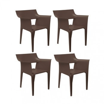 Vondom - Pedrera Armchair 4 Piece Set - bronze/H x W: 83 x 58cm/for indoor and outdoor