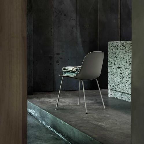 Muuto - Fiber Chair Stuhl mit Rohrgestell