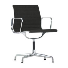 Vitra - Chaise avec accoudoirs EA 104 Aluminium Chair