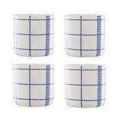 Normann - Mormor Blue 4 Tassen - weiß