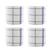 Normann - Mormor Blue 4 Cups - white