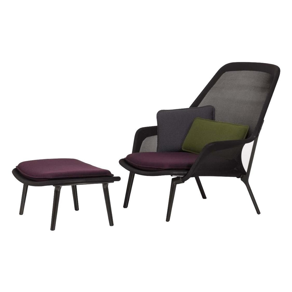 slow chair lounge chair & ottoman   vitra   ambientedirect