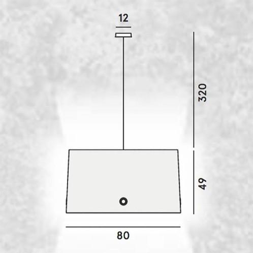 Diesel - Fork XL Pendelleuchte - Strichzeichnung