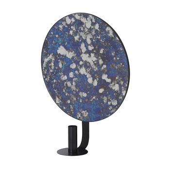 ferm LIVING - ferm LIVING Coupled Kerzenhalter 3279 - blau/schwarz/rund/Gestell Metall pulverbeschichtet/LxBxH 30x10.5x37cm