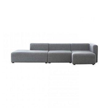 HAY - Mags Lounge Sofa Chaiselongue rechts - hellgrau/Stoff Halingdal 130/304x127.5x67cm
