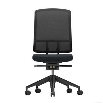 Vitra - AM Chair Bürostuhl ohne Armlehnen - schwarz/Rücken LightNet schwarz/BxHxT 49,5x100x53,5cm/Sitz Plano 66 schwarz/ Gestel schwarz