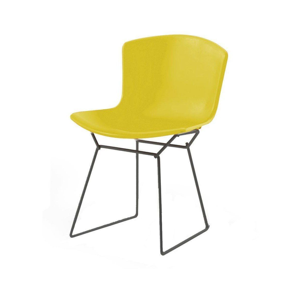 Knoll International  Bertoia Plastic Side Chair Frame Black Yellowpolypropyleneframe  Black Yellow Side Chair56