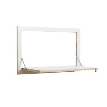 AMBIVALENZ - Fläpps Sekretär - weiß/Kante Holz/lackiert/B x H x T: 80 x 50 x 44cm/Arbeitsfläche 70 x 40cm