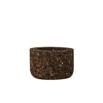 Bloomingville - Bloomingville Kork Behälter braun - braun/Ø6xH4 cm