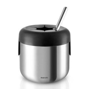 - Eva Solo Eiswürfelkühler mit Löffel - edelstahl/schwarz/poliert/LxBxH 10.5x7.5x3.5cm