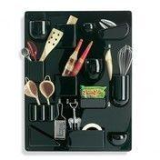 Vitra - Uten.Silo II Accessoires Wandhalter - schwarz/glänzend/68 x 52 x 6.5 cm