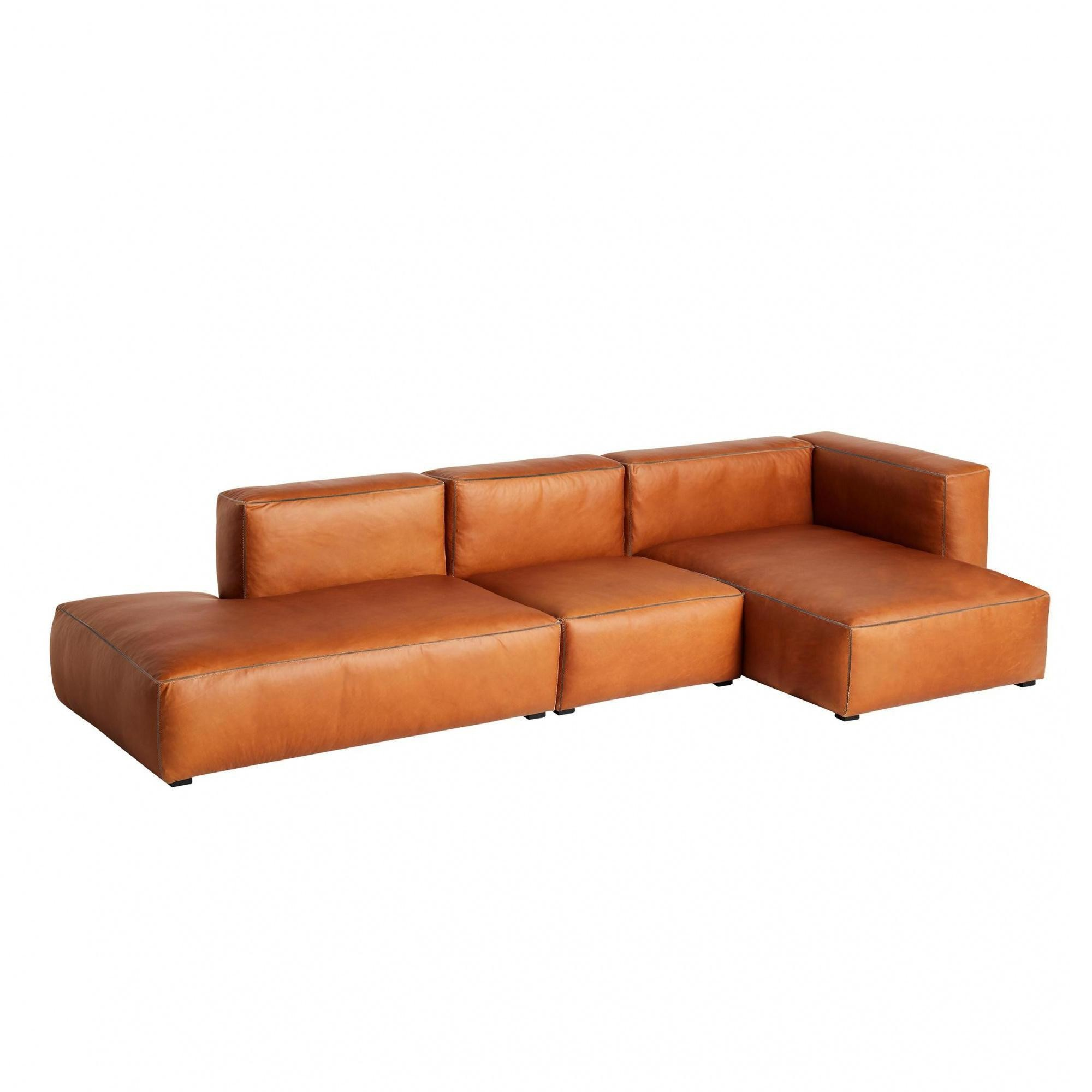 - HAY Mags Soft 3 Seater Sofa Leather Right 334x153x67cm