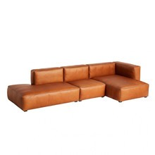 HAY - Mags Soft 3 Seater Sofa Leather Right 334x153x67cm