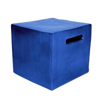Gervasoni - Inout 41 Beistelltisch / Hocker - blau/Größe 1/H37cm