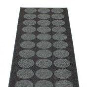 pappelina - Hugo Teppich 70x160cm - metall schwarz/schwarz