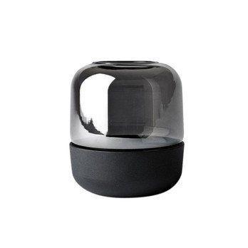 Menu - Menu Fire Hurricane Windlicht  - schwarz/Glas/für Standard Teelichter/Ø 9cm/ H: 10cm