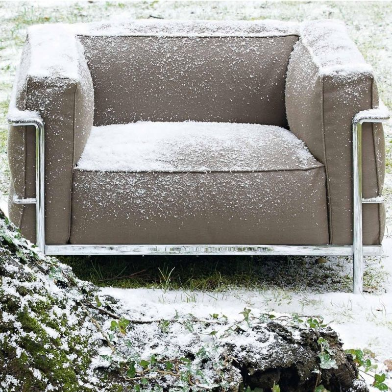 Le Corbusier LC3 Outdoor Armchair  Cassina ...