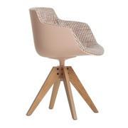 MDF Italia - Flow Slim Armchair Frame Oak VN Upholstered