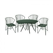 Fermob - Set  de 4 fauteuils Flower + 1 table Rendez-vous