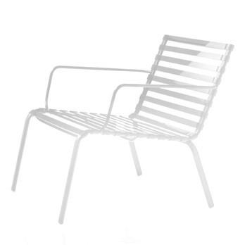 Magis - Striped Poltroncina Sessel mit Armlehne - weiß/weiß/Stahl
