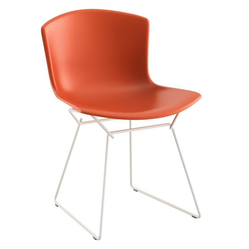 Knoll International Bertoia Plastic Side Chair Chaise Blanc