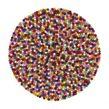 myfelt - Lotte Filzteppich Ø90cm - multicolour/reine Schurwolle