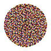 myfelt - Lotte Felt Rug Ø90cm - multicolour/pure new wool