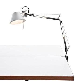 Artemide - Tolomeo Micro mit Tischklemme - aluminium/poliert/eloxiert/mit Tischklemme/BxH 45x37cm