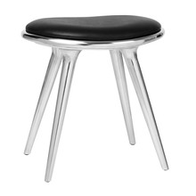 Mater - Low Stool Aluminium Base H 47cm