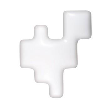 Kundalini - Pixel Wandleuchte / Deckenleuchte - weiß/LxBxH 42x10x51cm