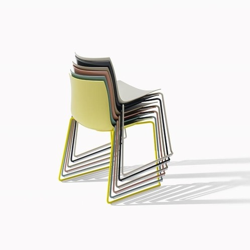 Arper - Catifa 46 0278 Stuhl einfarbig Kufe weiß