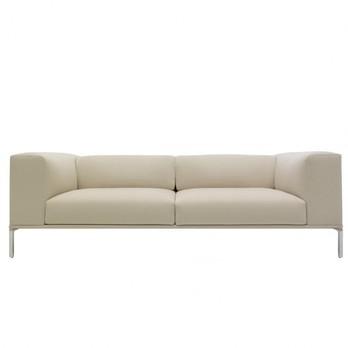 Cassina - Moov Sofa klein - leder 13X269 creme/Gestell poliert/220x71x85cm