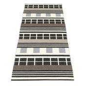 pappelina - James Teppich 70 x 120 cm - schwarz weiß