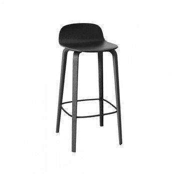 Muuto - Visu Barhocker H: 75cm - schwarz/lackiert/42.7 x 42.3cm