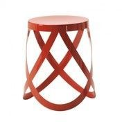 Cappellini - Ribbon Hocker/Barhocker - rot/matt/H 44cm