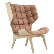 NORR 11 - Fauteuil Mammoth cuir structure chêne naturel