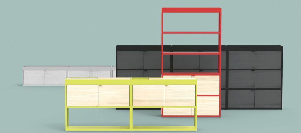 hay new order regalsystem ambientedirect. Black Bedroom Furniture Sets. Home Design Ideas