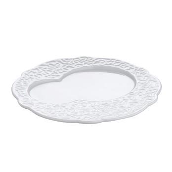 Alessi - Dressed Frühstücksteller Set 4 tlg. - weiß/Reliefdekor/Ø16cm