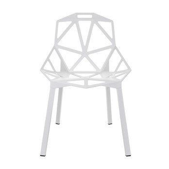 Superior Magis   Chair One Stacking Chair   White/lacquered/Legs White ...