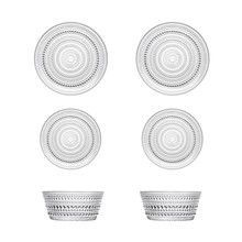 iittala - Kastehelmi Bowl And Plates Set Of 6