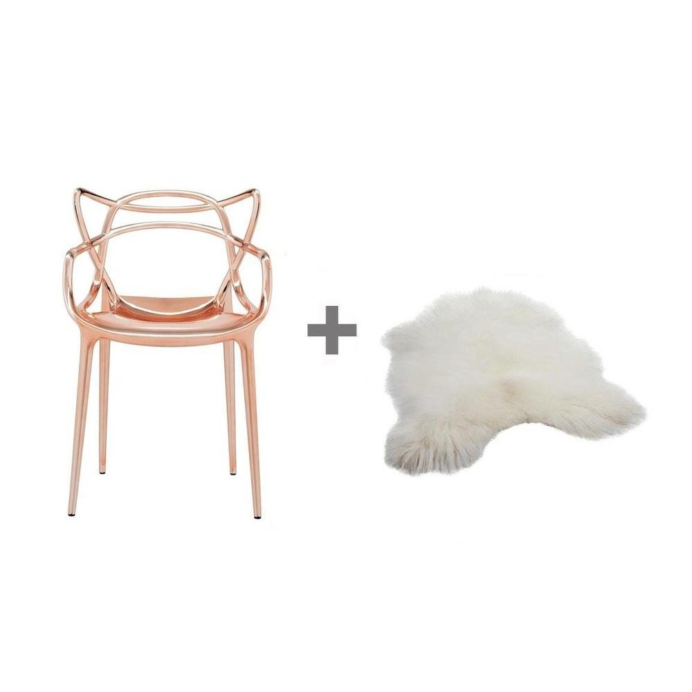 Set promo masters chaise peau kartell for Chaise kartell masters