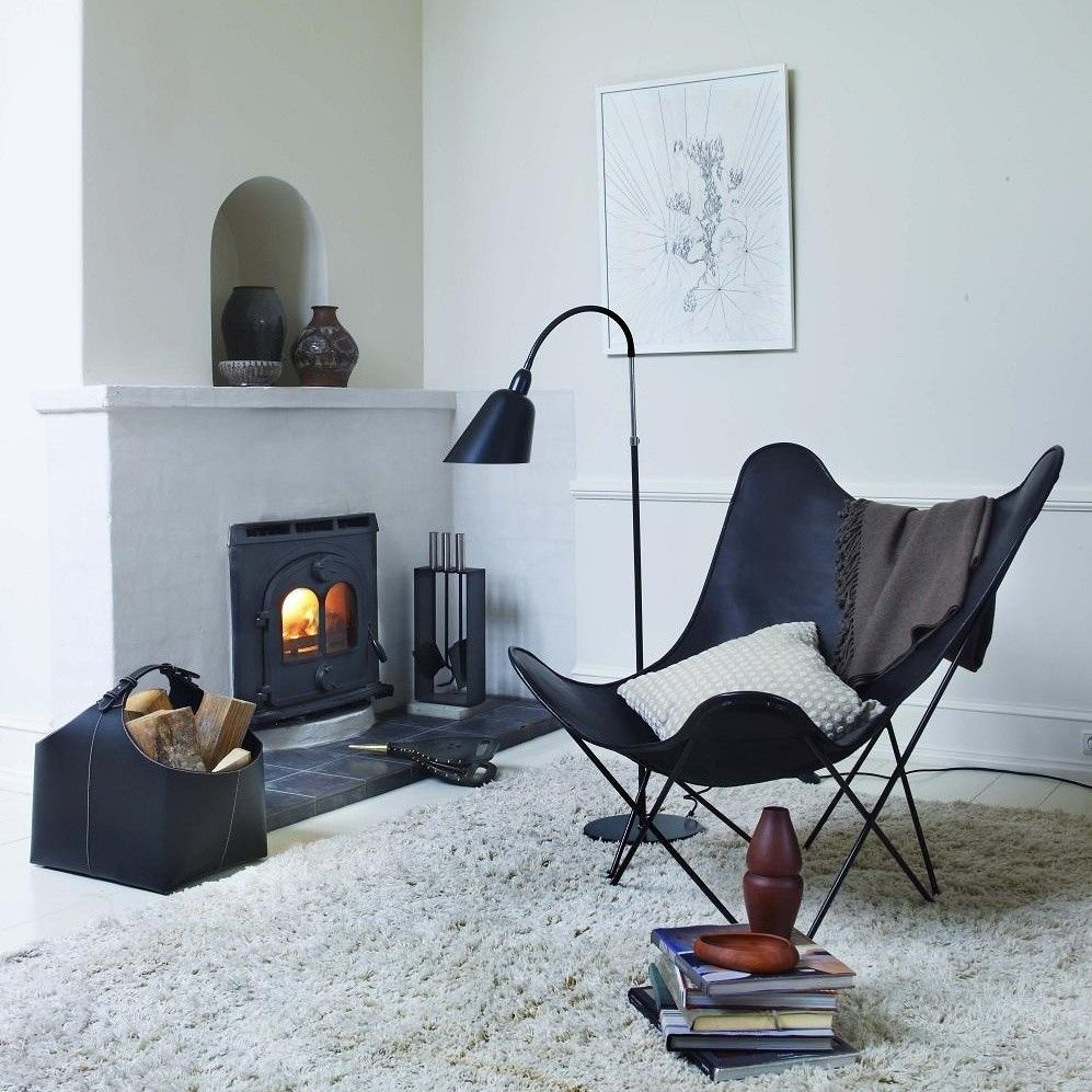 Leather Mariposa Butterfly Chair | cuero | AmbienteDirect.com
