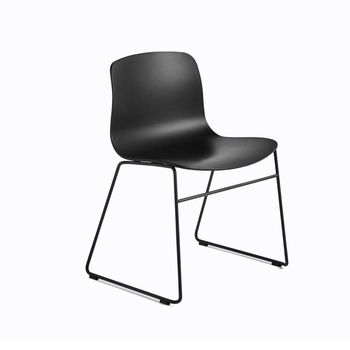 HAY - About a Chair 08 Stuhl mit Kufen - schwarz/Gestell Stahl schwarz lackiert/H x B x T: 78 x 58 x 50cm