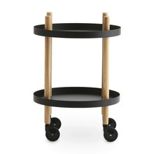 Normann Copenhagen - Table d'appoint/desserte mobile rond Block