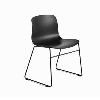 - About a Chair 08 Stuhl  - schwarz/Gestell Stahl schwarz lackiert/H x B x T: 78 x 58 x 50cm