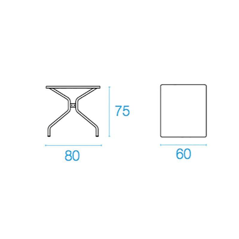 emu Table de jardin 80x60x75cm Solid | AmbienteDirect
