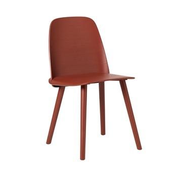 Muuto - Nerd Stuhl - dunkelrot/lackiert/45x79.9x50cm