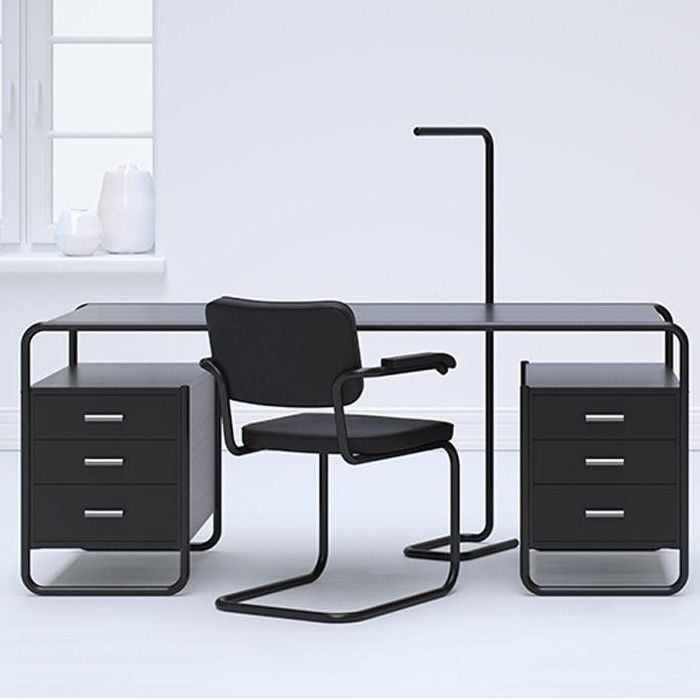 s 64 freischwinger stuhl black white thonet. Black Bedroom Furniture Sets. Home Design Ideas