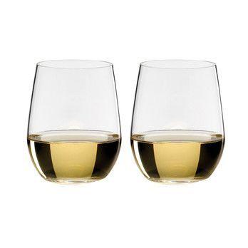 Riedel - O Wine Viognier Weinglas 2er Set - transparent/H 9,6cm, 320ccm